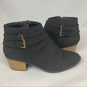 Chic Qupid Black Textured Ankle Booties